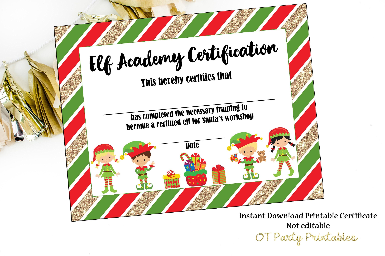 INSTANT DOWNLOAD Elf Certificate Elf Printables Elf | Etsy