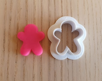 Gingerbread man cookie cutter set - suitable for fondant, polymer clay, play doh.