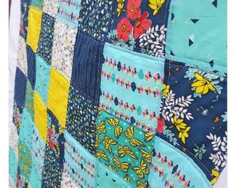 Handmade patchwork quilt crib size