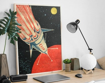 Soviet Rocket Print
