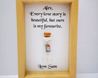 christmas gifts for girlfriend personalised girlfriend frame add names or your own message