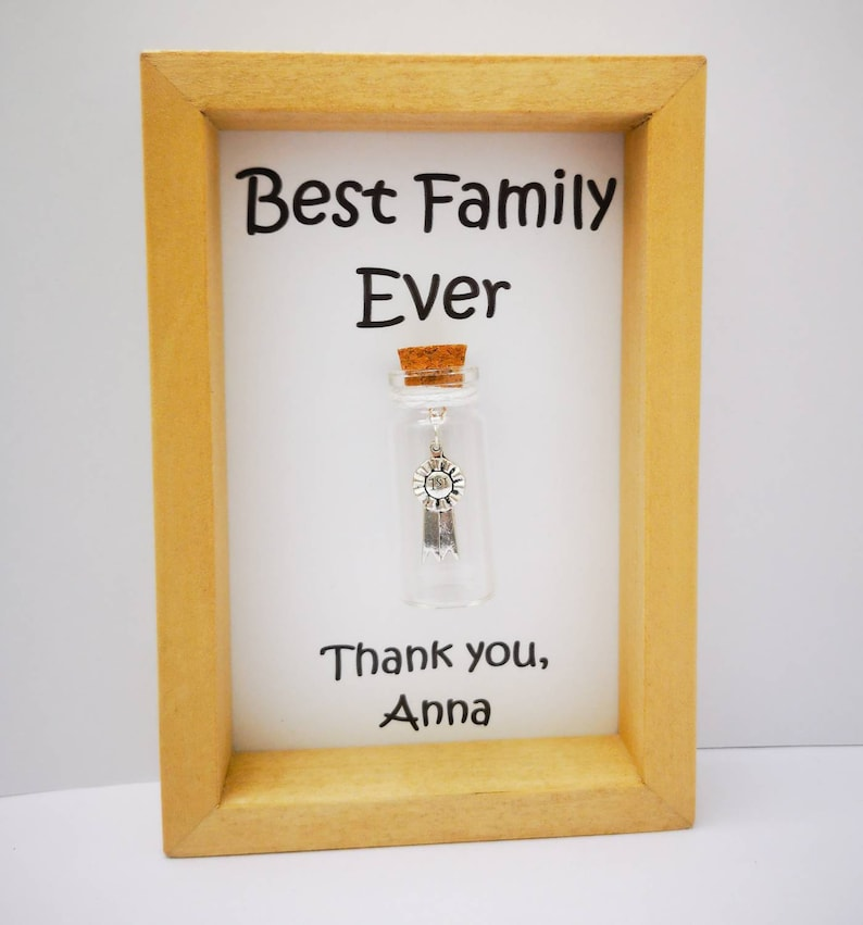 Personalised thank you gift for family Host family gift Add image 0