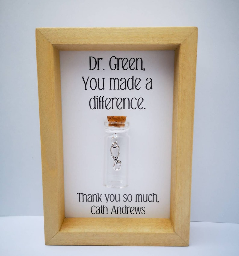 Doctor thank you gift Doctor gift Personalised doctor gift image 0