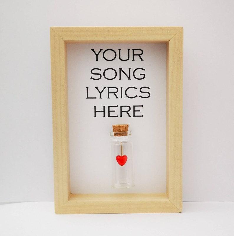 Song Lyrics  Personalised Lyrics  Lyrics Print  Our Song. image 0