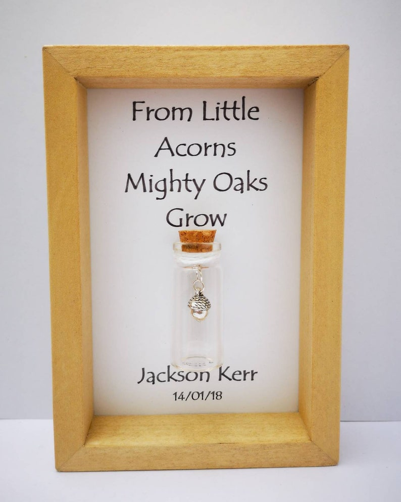 Personalised baby gift Unique baby gift Nursery print Add image 0