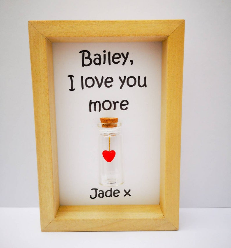 Love you more personalised girlfriend gift Add names or your image 0