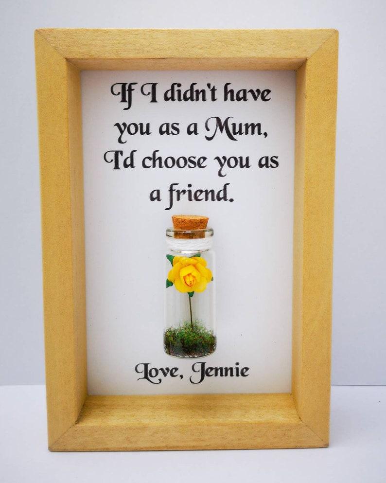 Mum frame  Personalised mum gift  Mum gift  Handmade mum image 0