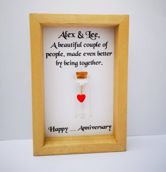 7th Wedding Anniversary Gifts: 7th Wedding Anniversary Personalised 7th Anniversary Gift