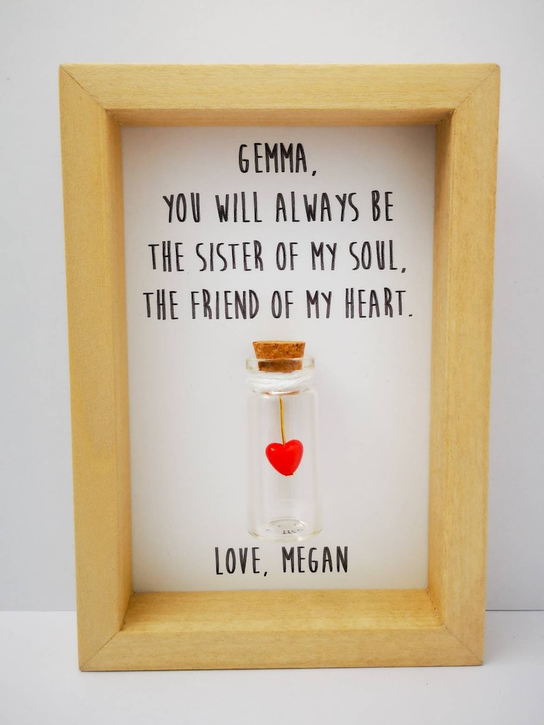Personalised Friend Gift  Friendship Quote  Box Frame. image 0