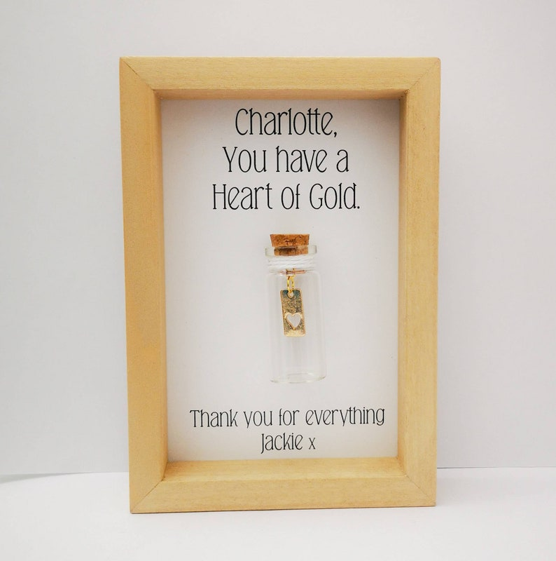 Personalised Thank You Gift  Heart of Gold  Thank you gift. image 0