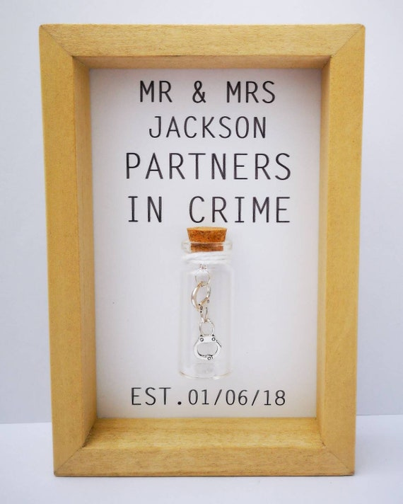 Cool Wedding Gifts.Cool Wedding Gift Funny Wedding Gift Personalised Wedding Gift Wedding Print Partners In Crime Add Names And Date