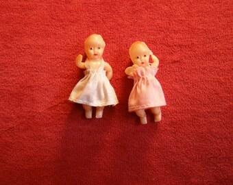 Vintage Plastic Miniature Baby Dolls - 2
