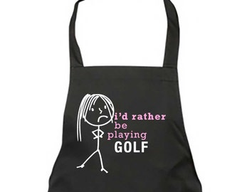 Image result for id rather be golfing apron