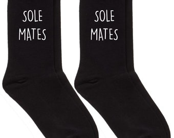 3a050885b Sole Mates Couples Socks Set Valentines Day Present Birthday Christmas  Fathers Day Soul Mate