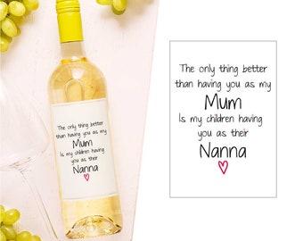 GRAN has ears that listen Vinyl Decal Sticker for Wine bottle diy NAN NANNA
