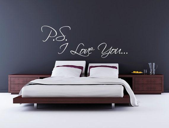 Naklejka Na ścianę Sypialni Ps Kocham Cię Nalepka Romantyczna Para Buduar Nad Snem