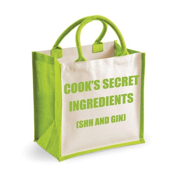 Gin Bag Shopping Bag Cook s Secret Ingredients Shh and   Etsy d7687c2027