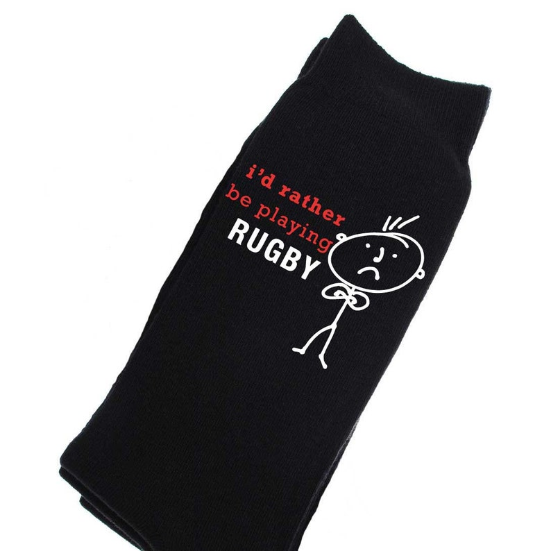 Rugby Socks Mens I/'d Rather Be Playing Rugby Socks Fathers Day Dad Present Boyfriend Husband Uncle