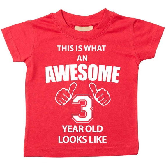 Took 3 Years Look Awesome 3rd Birthday Gifts Ideas T-Shirt For 3 Year Old Boys