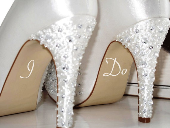 9d29af4fd68172 I Do Wedding Decal Bride Shoe Sticker Marry Married Bride To