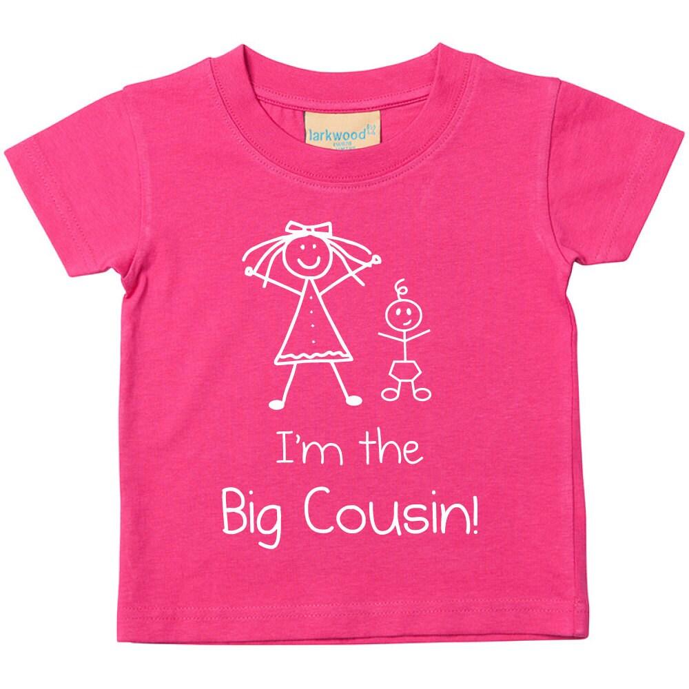 Cousin Tshirt ich bin die große Cousine Pink Girls T Shirt | Etsy