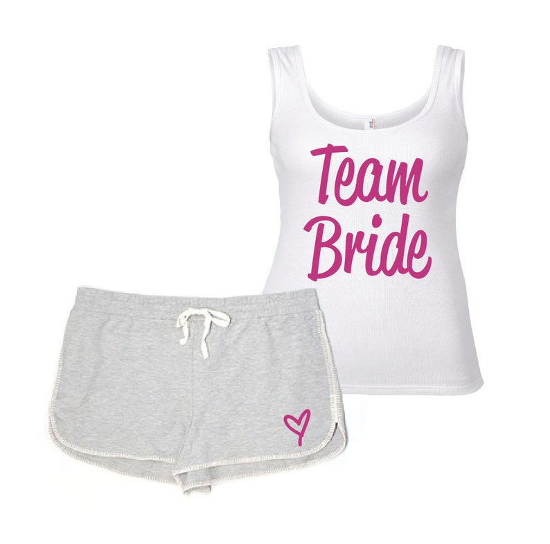 e84d57bdb7 Team Bride Pyjamas PJ s Lounge Wear Wedding Hen Party Bathcelorette  Honeymoo... Team Bride Pyjamas PJ s Lounge Wear Wedding Hen Party  Bathcelorette ...