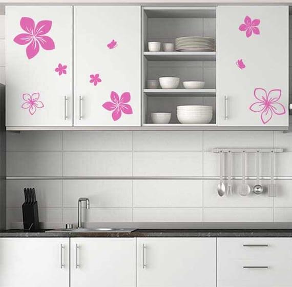 Küche-Blume Decals und Schmetterling Sticker Wand Aufkleber | Etsy