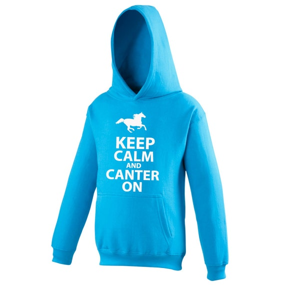Kids Printed Hoodie Keep Calm and Canter On