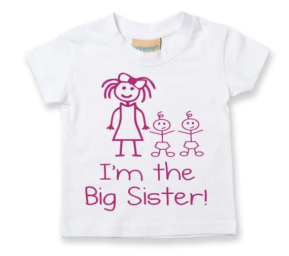 I/'m Going to be a Big Sister Twins T Shirt  kids t-shirt