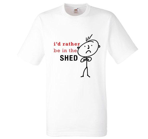Mens I/'d Rather Be Down The Allotment Black Tshirt Dad Grandad Boyfriend Gift Pr