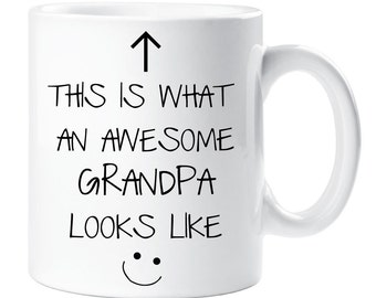 Awesome Grandpa Mug V2 This is What an Awesome Grandpa Looks like Ceramic Novelty Present Gift Mothers Day Cup Present