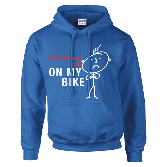 Cycling Hoodie Mens I'd Rather Be Cycling Hoody Dad Grandpa Husband Fathers Day Present Gift Novelty pT1vf2cigz