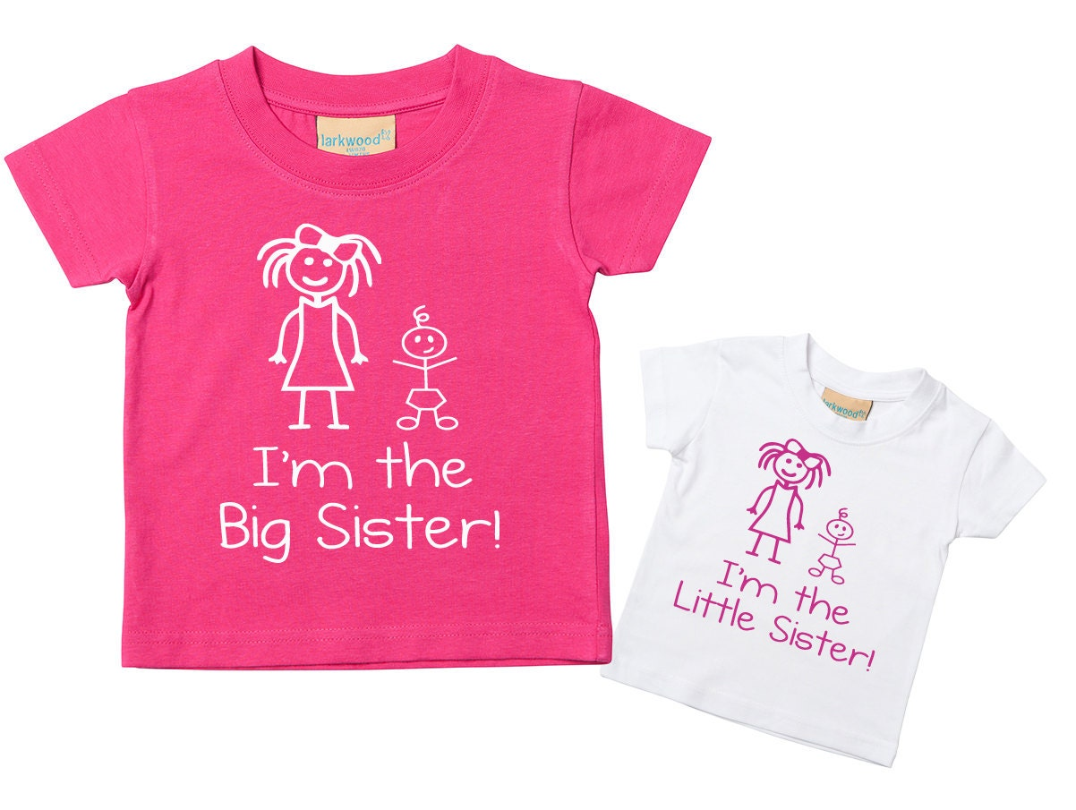 Big Sister In Training TWINS Tshirt Baby Toddler Kids Available in Sizes 0-6 Mon