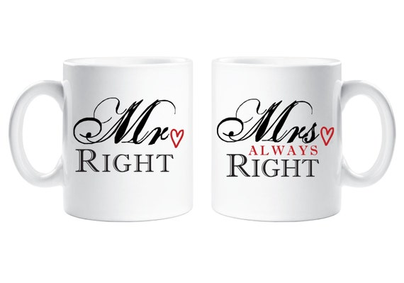 Always Right Spoon Set Right and Mrs Funny Wedding Gifts Mr Engagement Gifts For His or Her and For Parents for Valentines day,Christmas Gift
