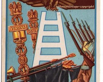 Postcard Fascism G.U.F. Verona, 40 years