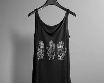 Palm Reading Tank - Palmistry - Tarot - Occult  - Graphic Tank - Womens Tank