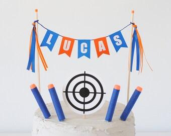 Cake Topper. Nerf Party Cake Topper Target Cake Topper Bullseye Cake Topper