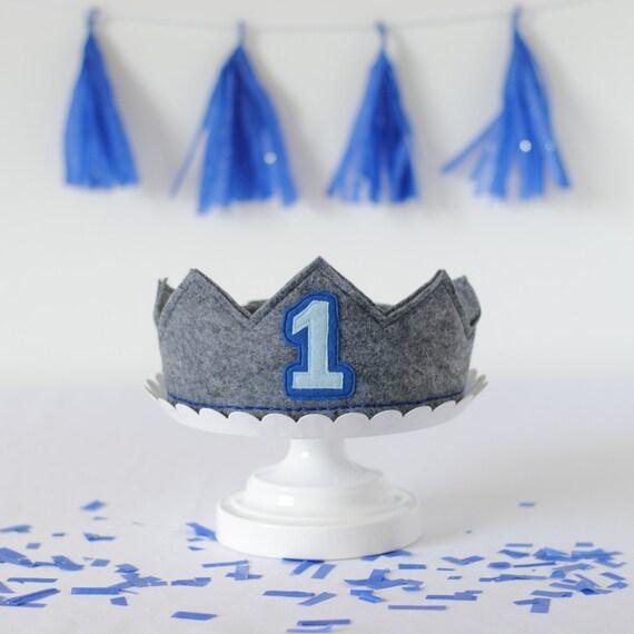 First Birthday Crown Boy 1st Hat