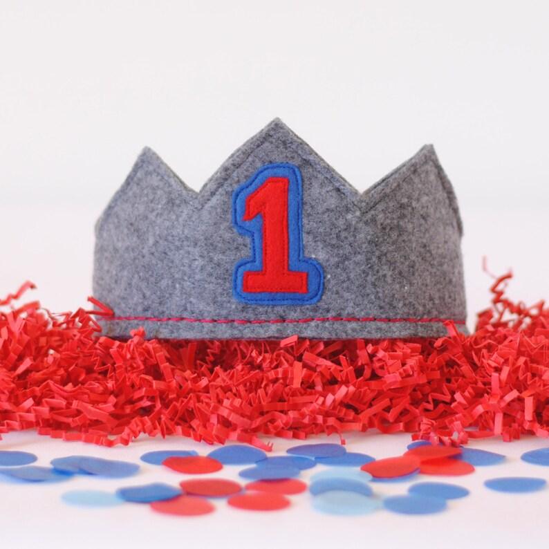 1st Birthday Crown Boy First Hat
