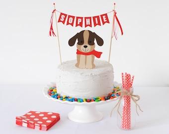 Dog Cake Topper for Kids Birthday - Dog Birthday Cake Topper - Puppy Party Cake Topper - Puppy Pawty Decorations