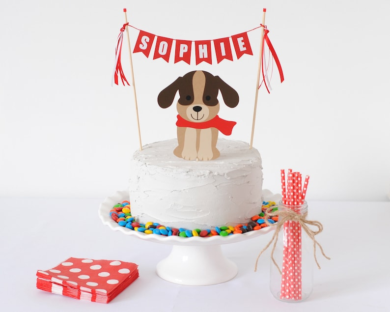Dog Cake Topper For Kids Birthday