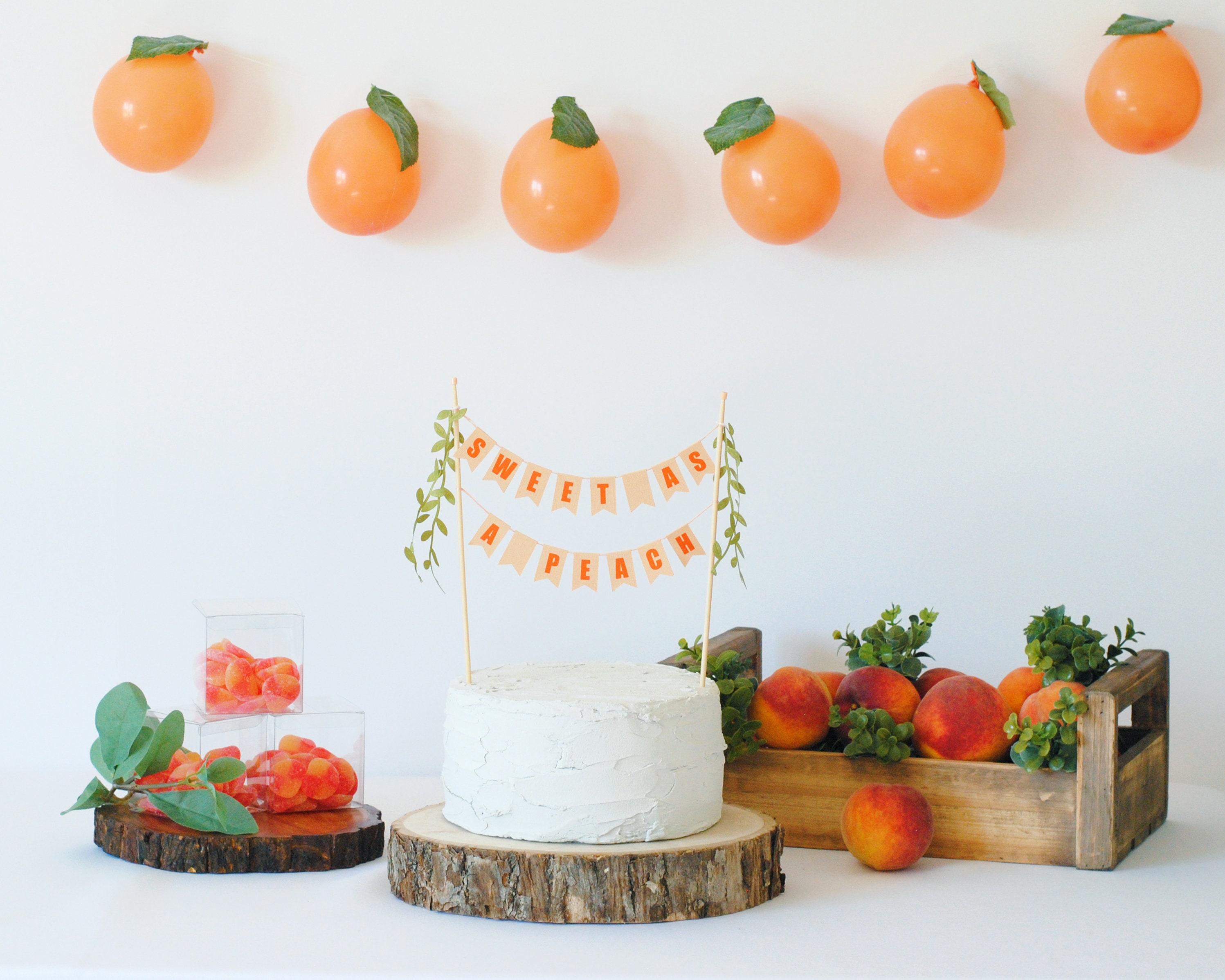 First Birthday Theme Ideas - sweet as a peach, sweet one birthday ideas
