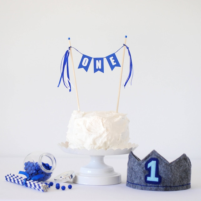 ONE Cake Topper For Boy Or Girl