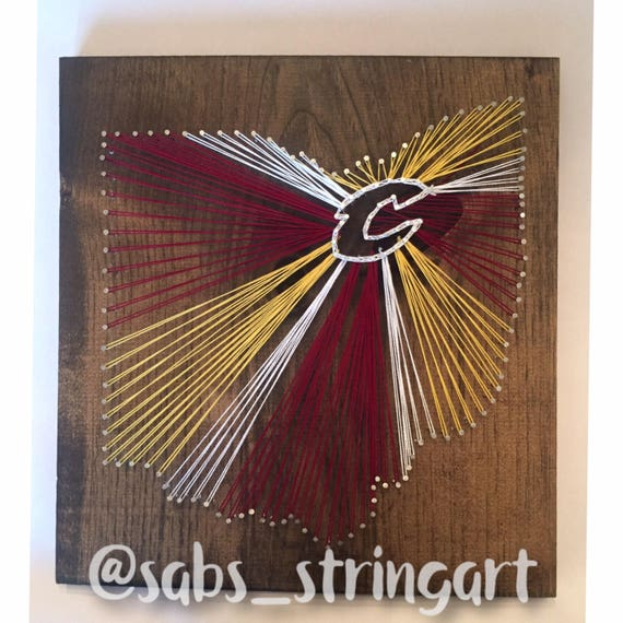 the best attitude 11bf0 d47a7 Cleveland cavaliers string art | Cleveland signs | cavaliers decor |  cleveland gift ideas | cleveland cavaliers gift | cavs string art