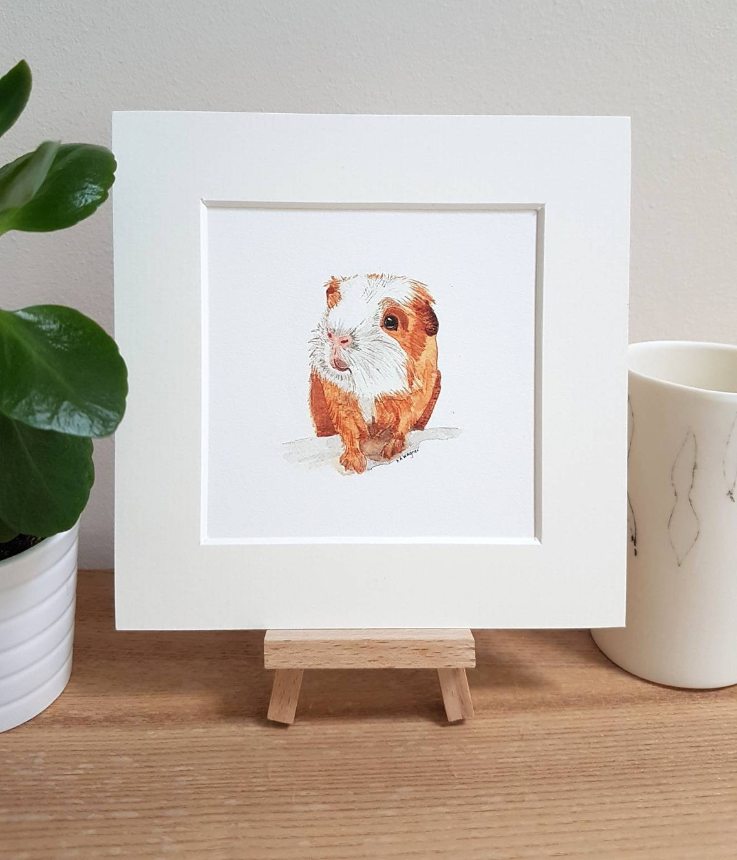 Guinea pig watercolour print