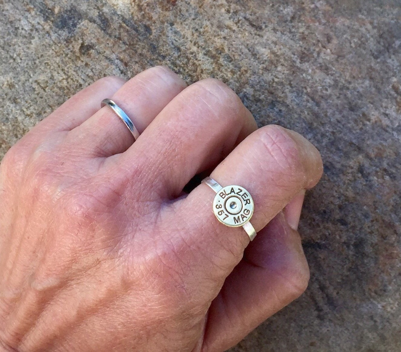 Sterling silver bullet ring bullet jewelry bullet ring NRA | Etsy