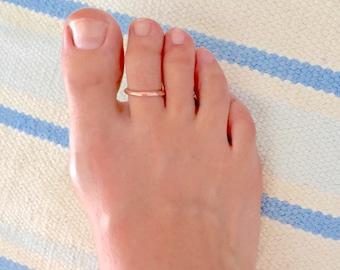 Solid copper toe ring, copper toe ring, toe rings, rings for toes, copper for feet, copper jewelry,copper
