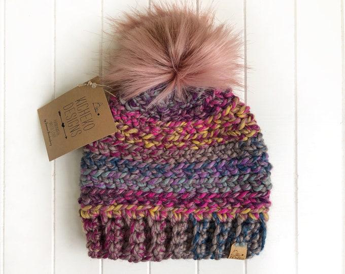 The Aurora Beanie// Toddler ~ Adult // Wool Acrylic Beanie// Crochet Toque// Chunky Beanie// Astroland//