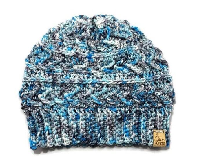 The LUXURY Sparrow Beanie// ADULT// Hand-dyed Superwash Merino// Indie-dyed// Crochet Wool Toque// Frozen Throne// Unique Textured Hat