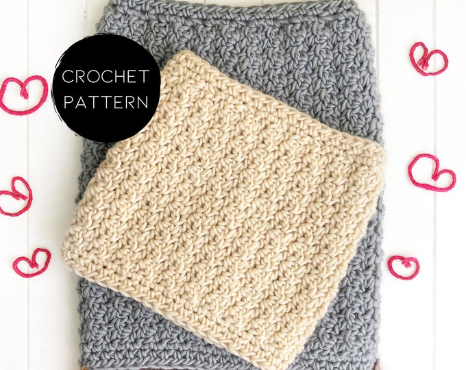 Featured listing image: PATTERN - Crochet | The Winter Rose Cowl | Cozy Tapered Cowl | Textured Crochet | Simple Design